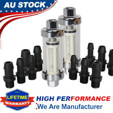 2 Set Universal Inline Gasoline Fuel Filter Carburetor Clear View of Fuel Flow