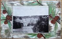 Dark Harbor, ME 1909 Postcard: Birdseye View - Maine