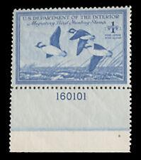 RW15 - VF NH 1948 Plate Number Single - Bottom