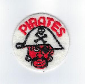 "1960's Pittsburgh Pirates patch 2"" felt baseball vintage old logo"