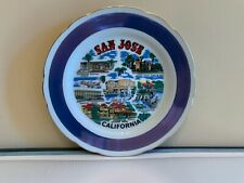 Vintage Early 1980's San Jose California State Souvenir Collector Plate