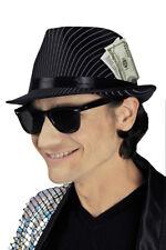 CHAPEAU à rayures fines Fedora, mafiatrilby, années 20 Capone style gangster,