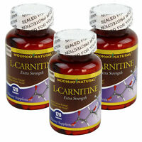 3 X Extra Strength L-CARNITINE 120 Caps 500mg Fat Burn, High Potency MADE IN USA