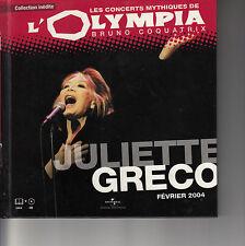 CD ALBUM JULIETTE GRECO / SERIE CONCERTS MYTHIQUES OLYMPIA