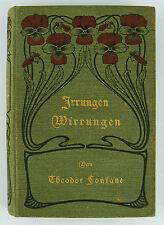 THEODOR FONTANE - IRRUNGEN WIRRUNGEN - BERLINER ROMAN - 1901 FONTANE & CO.