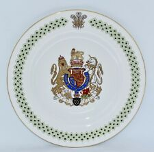 Magnificent Spode INVESTITURE OF PRINCE CHARLES / PRINCE OF WALES Plate (26.5cm)