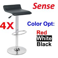 4x Sense PU Leather Bar Stool Kitchen Chair- White, Black or Red Color Post Free