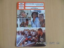 CARTE FICHE CINEMA 1991 LA LOI DE LA RUE Larry Fishburne Cuba Gooding J Ice Cube