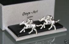 Novelty Mens Cufflinks - Horse Racing Jockey Rider Design * New * Gift