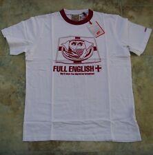 Kickers White M Mens Full English Breakfast T-Shirt BNWT Brand New Crew Neck Top