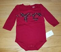 NWT Gymboree Girls Holiday Shop Christmas One-Piece Bodysuit Choice