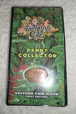 2003 Rainforest Cafe Penny Collector 1st Edition Souvenir Coin Album w/5 Coins