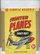TOPPS CARD TEST FIGHTER PLANES UNFOLDED 5 CENT FILE BOX w MINT UNUSED WRAPPER