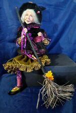 Vtg Witch Wicca Figurine Statue Decor Magic Mystical Fantasy Pagan Halloween