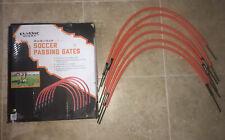 "Classic Sports Soccer Passing Gates~ 6 Orange ~ 18""x 14"" ~ Team / Individual"