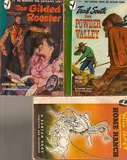 D171 Lot Of 3 Western 1940's Bantam Vintage Paperback Books Peter Field