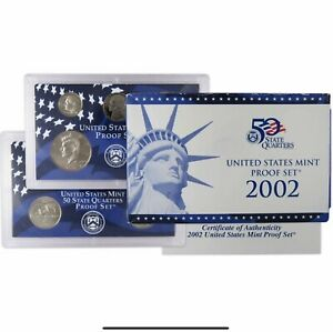 2002 S Proof Set U.S. Mint Original Government Packaging OGP Collectible