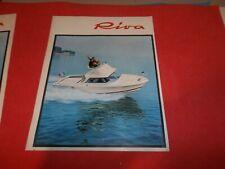 PUBBLICITA' 1971 ADVERTISING  WERBUNG MOTOSCAFO SPEEDBOOAT RIVA SARNICO