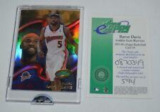 2005 ETOPPS BASKETBALL BARON DAVIS GOLDEN STATE WARRIORS CARD IN HAND