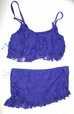 Kenneth Cole Skirted Lace Tankini  Sz XL/13,14  Retail $112