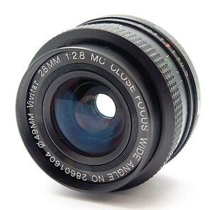VIVITAR 28mm f2.8 CLOSE FOCUS WIDE ANGLE LENS PK MOUNT - UK DEALER