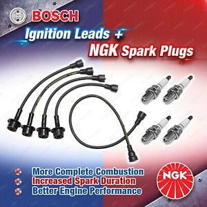 4x NGK Spark Plugs + Bosch Leads Kit for Toyota Corolla KE10 KE20 KE30 KE50 KE70