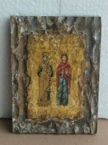 Old Vintage Christianity Painting Home Wall Decor Religious Collectible BO-50