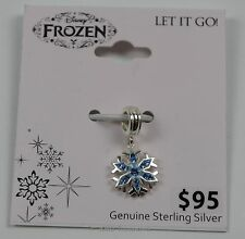 Disney Frozen Snowflake Charm Sterling Silver New