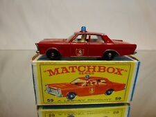 MATCHBOX LESNEY 59 FORD GALAXIE - FIRE CHIEF - GOOD CONDITION IN BOX