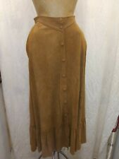 Vintage 1970's Brown Suede Snap Front Hippy Skirt Jacqui The Leather Lady Nwt