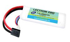 Lectron Pro 7.4V 2S 2000mAh 50C Lipo Battery w/ Traxxas Plug 1/16 E-Revo Slash