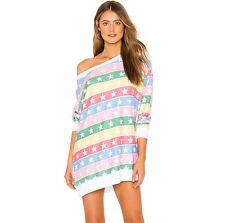 cc0de8b067f3c Wildfox Star Stripe Roadtrip Sweater Dress Sweatshirt Tunic Top
