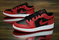 Nike Air Jordan 1 Low (GS) Gym Red Black White 553560-606 Kid's Shoes NEW