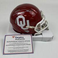Autographed/Signed CEEDEE LAMB Oklahoma Sooners College Mini Helmet Fanatics COA