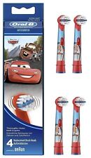 Oral-B Stages Power Kids Disney Pixar Cars New Electric Toothbrush Heads /Pack 4
