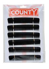 "12x County Mens 6"" Black Hair Comb"