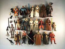 Star Wars Hasbro 1990-2000s lot 20 Action Figures Jedi Darth Maul Skywalker