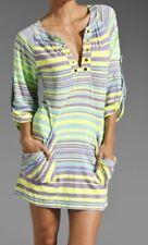 Nanette Lepore Seaside Tunic Green Swim Cover Up Size Medium Pockets Beach