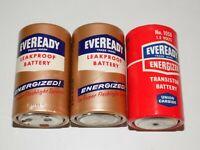 Vintage Eveready Energizer Transistor Radio Battery D Size Batteries