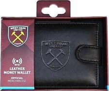 West Ham United RFID Anti Fraud Black Leather Wallet Boxed Official Product