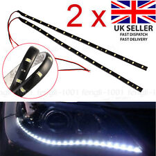 2X Strip Light Car SMD 3528 15 LED Decoration 12V Lamp Flexible Waterproof White
