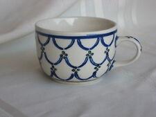 Boleslawiec Pottery Green Dots Blue Half Circles Tea Coffee Cup Handmade Poland