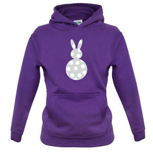 Spotty Bunny - Kids Hoodie Easter Costume Eggs Occasion Cute Rabbit Egg