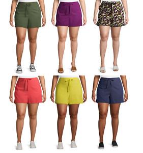 Terra And Sky Women's Plus Size Ruffle Edge Shorts