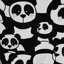 90cm piece Sweatshirt PINK cheeks panda, knit jersey cotton children's fabric