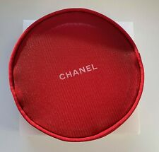 CHANEL COSMETIC/MAKEUP BAG POUCH CLUTCH holiday 2016 snowflake red VIP GIFT