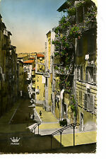 Street Scene-Rue Vielle Ville-Nice-France-Color RPPC-Vintage Real Photo Postcard