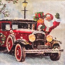 paper napkins decoupage x 2 Christmas santa 25cm