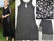 NWT SOULMATES 100% Silk Handmade Crochet Beaded Maxi Dress & Scarf Set Size 3X