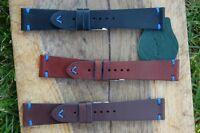 Cinturino vintage in cuoio Marrone Misura 18 20 22 compatibile daytona gmt rolex
